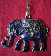 Indian ornament violet elephant pendant